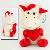 Мягка игрушка Корова с сердцем, 26 см