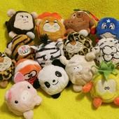 Свинка.слон.леопард.лев.овца.утка.ананас.мягка іграшка.мягкие игрушки.Keel Toys.Bobballs