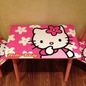 Детский столик и 2 стульчика Китти (Hello Kitty) Украина