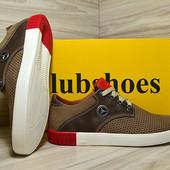 Мужские замшевые мокасины с перфорацией Club Shoes
