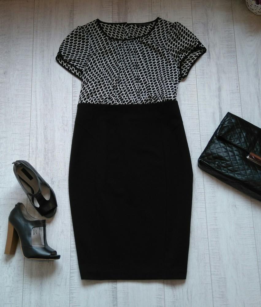 Комбинированное нарядное платье m&s 16 р фото №1