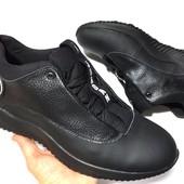 Скидка! 43 размер! Кожаные мужские кроссовки