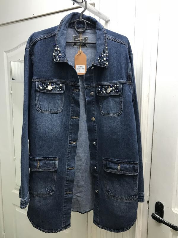 Кардиган л-5хл супермодный джинсовая куртка фото №1