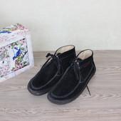 42 27,5см Tom Tailor Замшевые ботинки на шнуровке