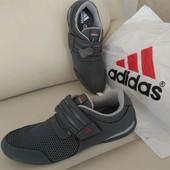 Натуральная. кожа+ сетка серые или черные Adidas!!!.весна-лето Индонезия. качество 5+   р 41-46