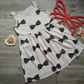 Платье с бантиками H&M (4-6 лет)