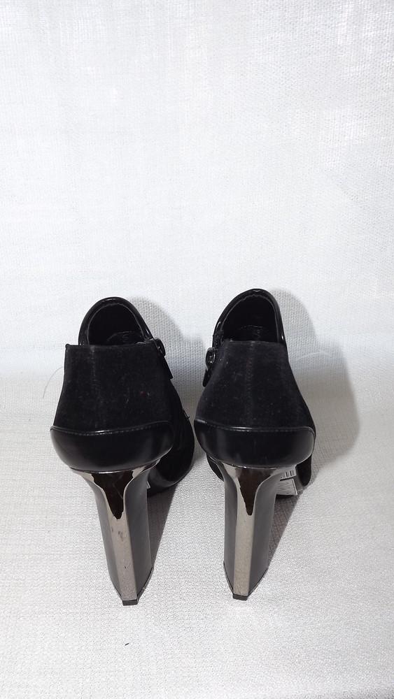 Ботильоны туфли закрытые centro 24,5 стелька фото №4