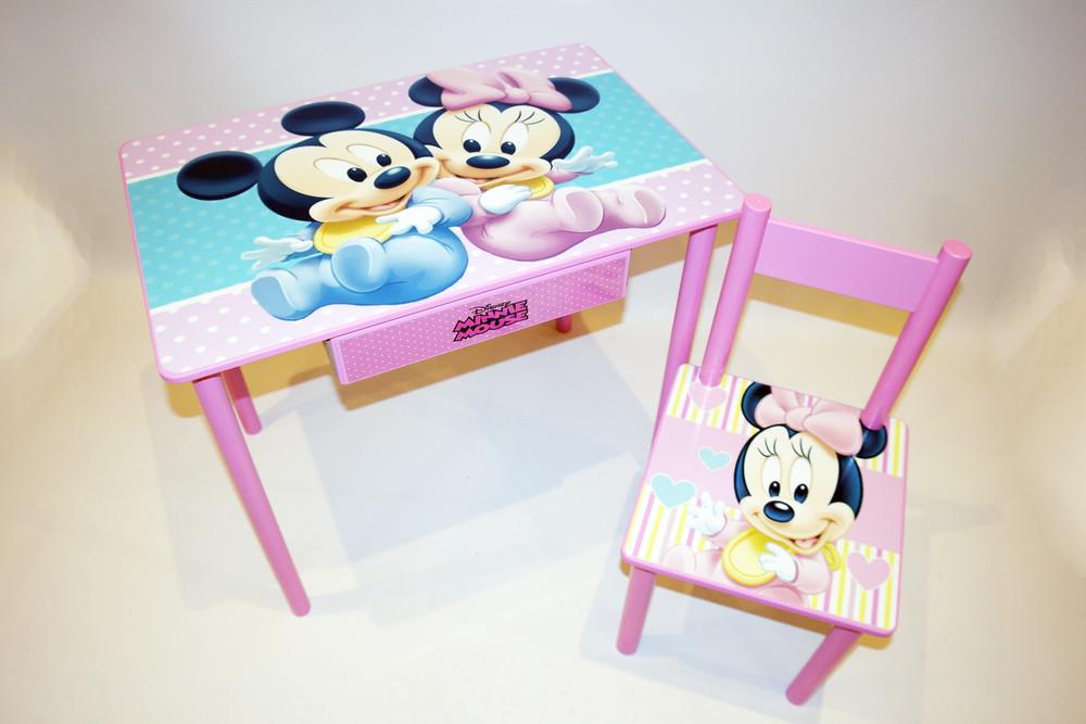 Комплект детской мебели (стол парта и стульчик + ящичек) от2 до 7 лет фото №1