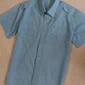Легкая рубашка в полоску, р.S