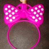 Обруч для волос принцесса-бант 3 режима подсветки