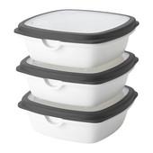 Набір контейнерів для продуктів ікеа икеа 003.817.16 набор пищевых контейнеров
