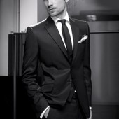 S-М/44-46 Borys Style, Мужской костюм цвета мокрый асфальт на рост 176-182 см
