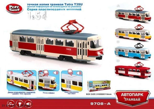 Трамвай музыкальный 4 цвета фото №1