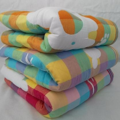 Детское стеганое одеяло плед 110*110 лен натуральное фото №1