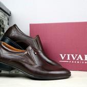 Мужские кожаные классические туфли Vivaro, р 40-45 код gavk-10866