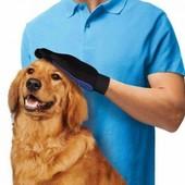 Массажная перчатка для вычесывая шерсти Тру Тач (True Touch)