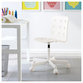 Детский стул д/письменного стола, белый Икеа Юлес, 392.077.16