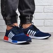 Кроссовки мужские дышащие текстильные Boost синие