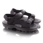 Удобные лёгкие черные мужские сандалии