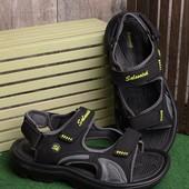 Стильные удобные мужские сандалии черного цвета