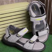 Легкие удобные мужские сандалии серого цвета
