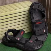 Стильные мужские сандалии черного цвета