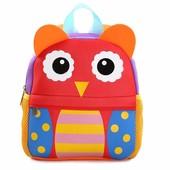 Рюкзак детский из неопрена для мальчика и для девочки. Веселая сова.