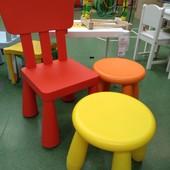 Табурет детский, д/дома/улицы, желтый Икеа Маммут, 203.823.24 Mammut Ikea В наличии!