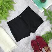 Эластановые шорты насыщенного черного цвета   PN181974