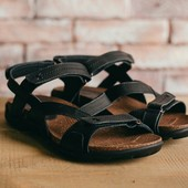 Мужские сандалии из натуральной кожи черные 10139