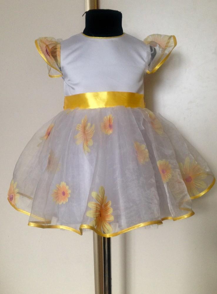 Прокат нарядного ретро платья ромашка фото №1