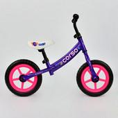 Велобег corso С 7140 фиолетовый, стальная рама, колесо 12 eva пена