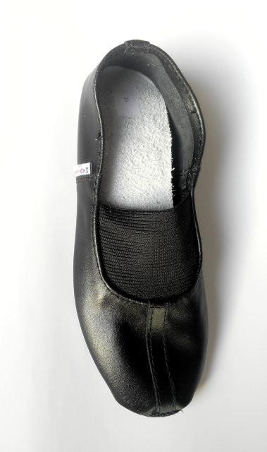 Чешки кожаные для девочки matita 26, 27, 28, 29, 30(р) черный 1345  чешки кожаные для спорта фото №1