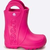 Crocs крокс детские резиновые сапоги (C10) Розовые