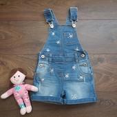 джинсовый комбинезон шортиками 3-4го3-4года супер модный