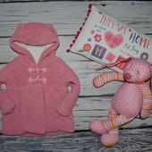9 - 12 месяцев 74 - 80 см Фирменное красивое легкое пальто джемпер для девочки с ушками