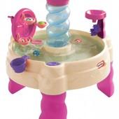 Little tikes Водный столик-фонтан Спираль spiralin' seas water table pink