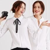 Элегантная блузка полуприлегающего силуэта Tchibo – идеальная базовая вещь для офисного гардероба
