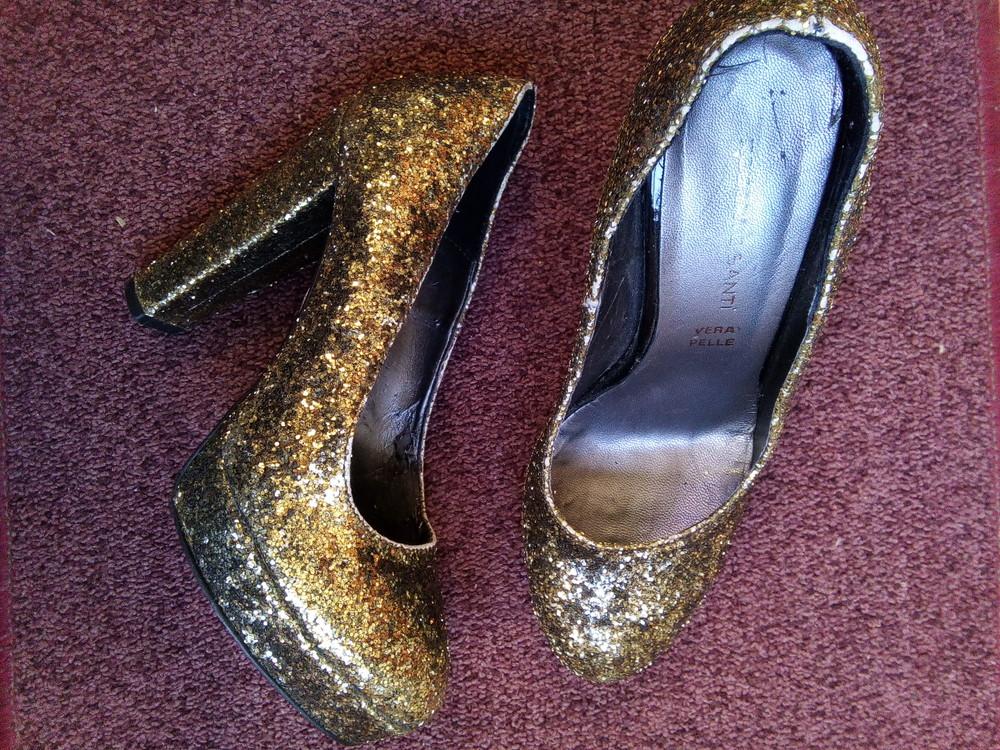 Вечерние туфли Roberto Santi Золото фото №1