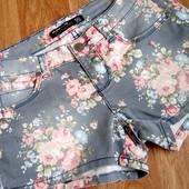 Обалденые шорты шортики с эффектом потертости Casual размер XS