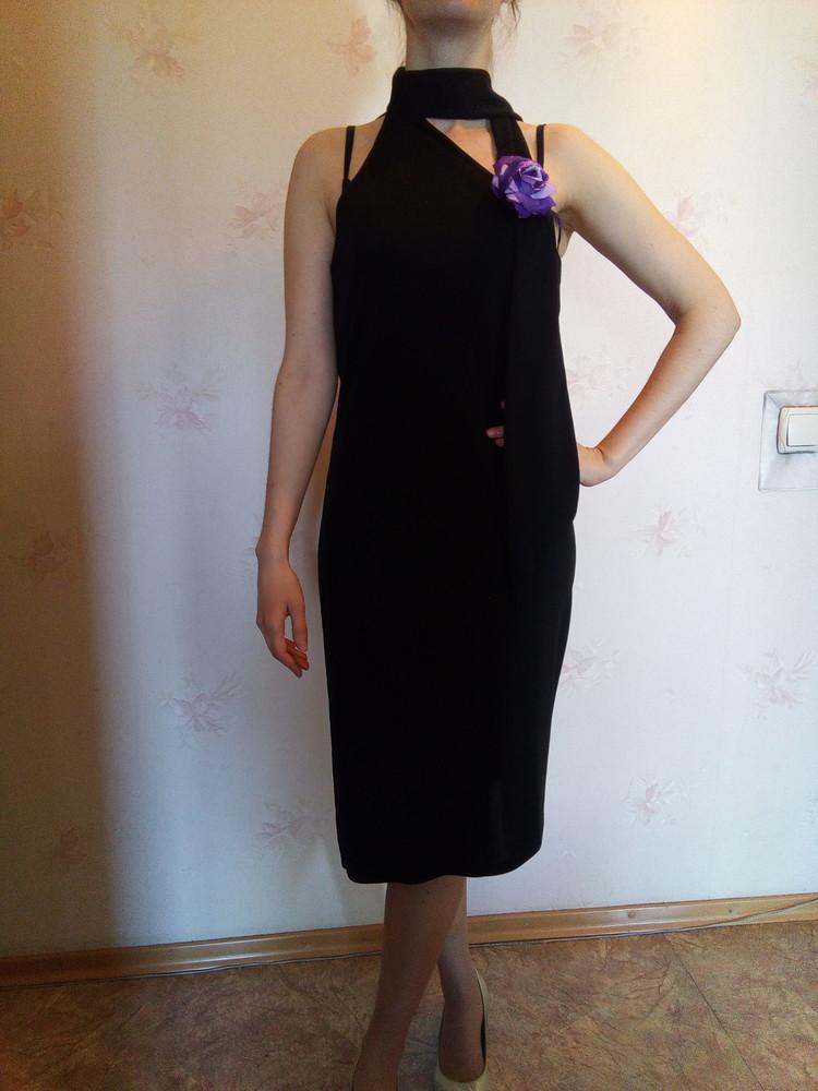 Коктейльное платье с ассиметричным подолом фото №1