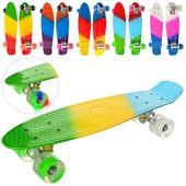 Скейт пенни борд MS 0746-1 Penny Board. Свет колес.