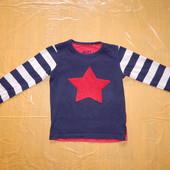 3-5 лет, р. 98-110, реглан Next фирменный футболка с длинным рукавом