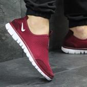 Кроссовки мужские низкие Nike Free 3.0 burgundy