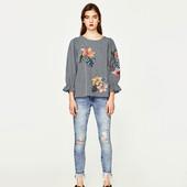 Шикарные джинсы с бахромой ZARA, 36, 38р, оригинал, Испания