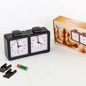 Часы шахматные механические Chess Clock 9905: удобные кнопки управления, работают от батарейки