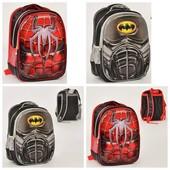 Школьный рюкзак с 3Д рисунком  Spider-Man, Batman