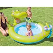 Надувной бассейн с фонтаном Крокодил Intex 57431