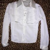 Белая блуза 10-12 лет (рукав 52, шир. 41)