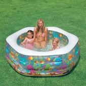 Детский надувной бассейн Океанский Риф 191 х 178 х 61 см Intex 56493
